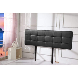 Headboard, PU Leather, Deluxe, Black, King