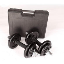 Load image into Gallery viewer, 20kg Black Dumbbell Set with Carrying Case