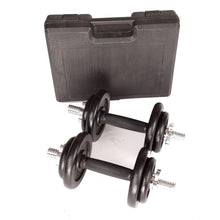 Load image into Gallery viewer, Dumbbell Set with Carrying Case, Black, 20kg