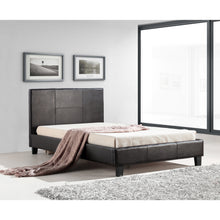 Load image into Gallery viewer, King Single PU Leather Bed Frame Brown