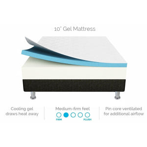 Gel Memory Foam Dual-Layered Mattress, 25cm, Double