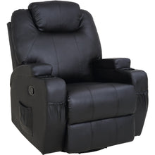 Load image into Gallery viewer, Massage Sofa Chair Recliner 360 Degree Swivel PU Leather Lounge 8 Point Heated