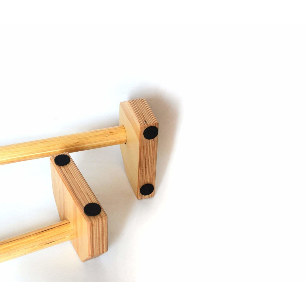 Wooden Parallette Bars Push Up & Dip Workouts