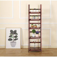 Load image into Gallery viewer, Wooden Ladder Stand, Brown, 5 Tier