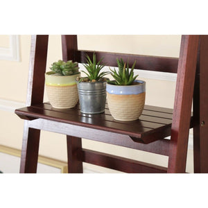 Wooden Ladder Stand, Brown, 5 Tier