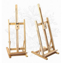 Load image into Gallery viewer, Tabletop Easel Wood Studio H-Frame Artist Art Display Painting Shop Tripod Stand Wedding