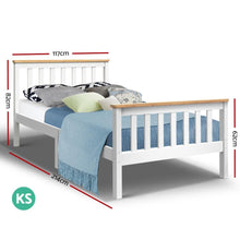 Load image into Gallery viewer, Pony Bed Frame, Wood, White, King Single