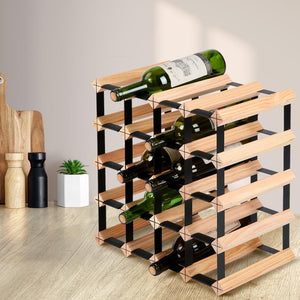 Wine Rack, Natural, 20 Bottles