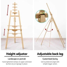 Load image into Gallery viewer, Easel Stand, Wood, Natural, 175cm