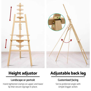 Easel Stand, Wood, Natural, 175cm