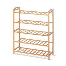Load image into Gallery viewer, Wembley Shoe Rack, 5 Tier, Bamboo