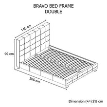 Load image into Gallery viewer, Bed Frame, Black, Double
