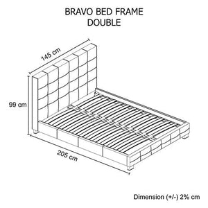 Bed Frame, Black, Double
