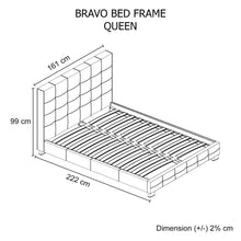 Load image into Gallery viewer, Bed Frame, Leatherette, Black, Queen