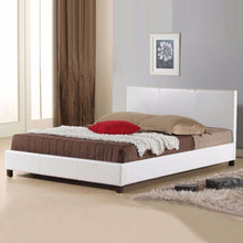 Load image into Gallery viewer, Mondeo PU Leather Queen White Bed