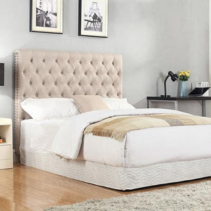Headboard, Linen, Beige, Double