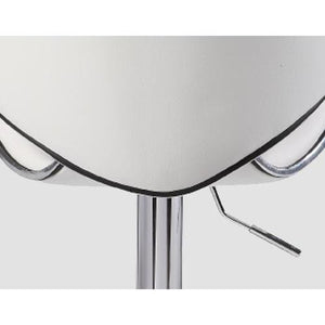 Bar Stool, White, 47 x 51 x 84cm (Set of 2)