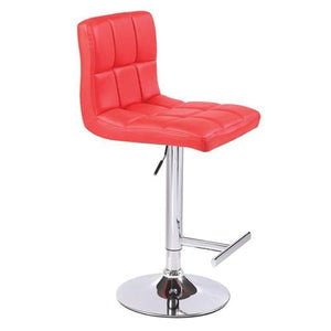 Bar Stool, PU Leather, Red, 45 x 45 x 87cm (Set of 2)