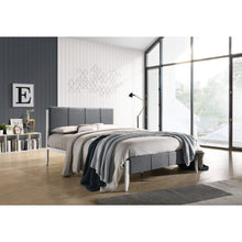 Load image into Gallery viewer, Fabric Upholstered Bed Frame in Grey - Double