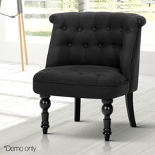 Load image into Gallery viewer, Elodie French Provincial Accent Chair, Fabric, Black
