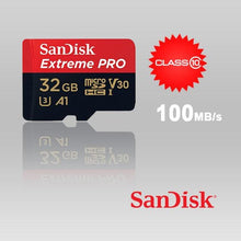 Load image into Gallery viewer, SANDISK SDSQXCG-032G-GN6MA 32GB MICRO SDHC EXTREME PRO 4K , A1 V30, UHS-I/ U3, 100MB/s