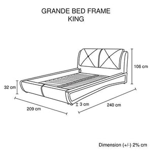 Bed Frame, Black, King