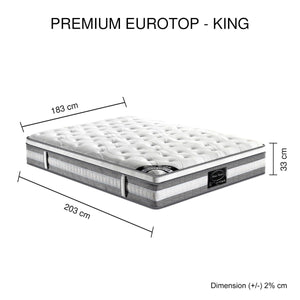 Spring Mattress, Top Pocket, King