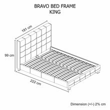 Load image into Gallery viewer, Bed Frame, Leatherette, Black, King