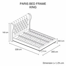 Load image into Gallery viewer, Bed Frame, Beige, King