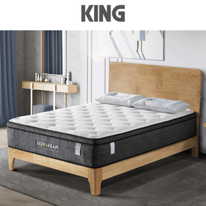 Eurotop Mattress, 5 Zone Pocket Spring, Latex Foam, 34cm, King