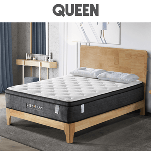 Eurotop Mattress, 5 Zone Pocket Spring, Latex Foam, 34cm, Queen