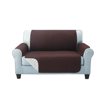 Sofa Cover, Quilted, 2 Seater, Coffee