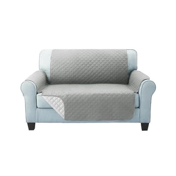 Sofa Cover, Quilted, 2 Seater, Grey
