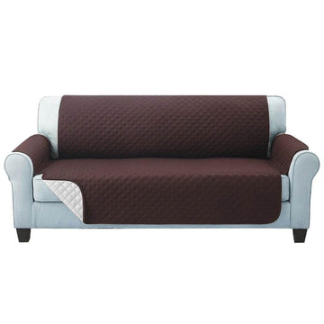 Sofa Cover, Quilted, 3 Seater, Coffee