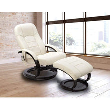 Load image into Gallery viewer, PU Leather Massage Chair Recliner Ottoman Lounge Remote