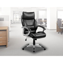 Load image into Gallery viewer, PU Leather Office Chair Executive Padded Black