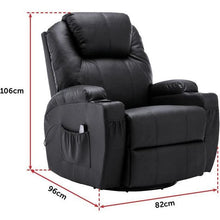 Load image into Gallery viewer, Massage Sofa Chair Recliner, 360 Degree Swivel