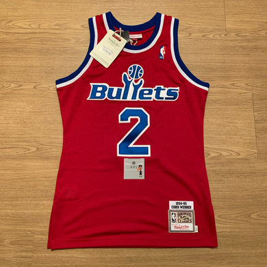 Chris Webber Washington Bullets Authentic Mitchell & Ness Jersey