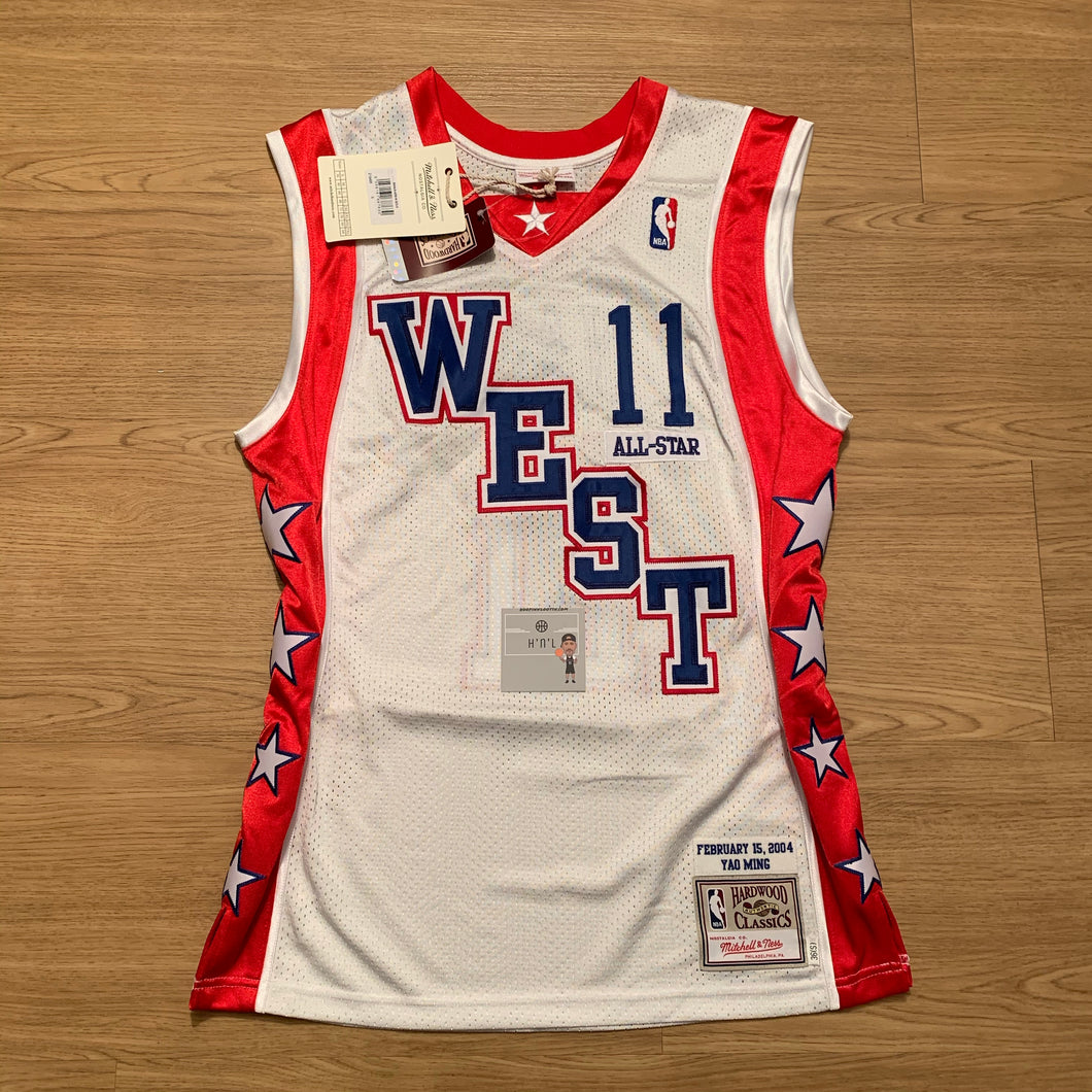 Yao Ming All Star West 2004 Authentic Mitchell & Ness Jersey