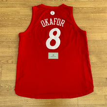 Load image into Gallery viewer, Jahlil Okafor Philadelphia 76ers Christmas Adidas Jersey