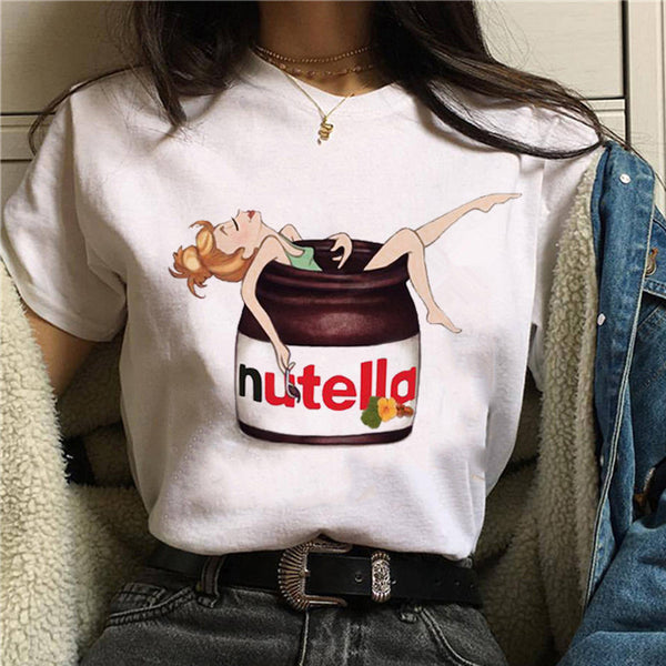 Nutella Kawaii Print T Shirt