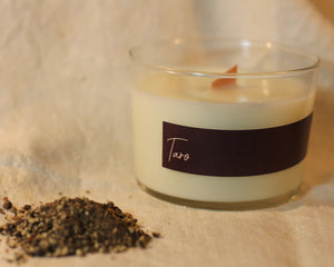 black pepper, bergamot & frankincense soy massage candle