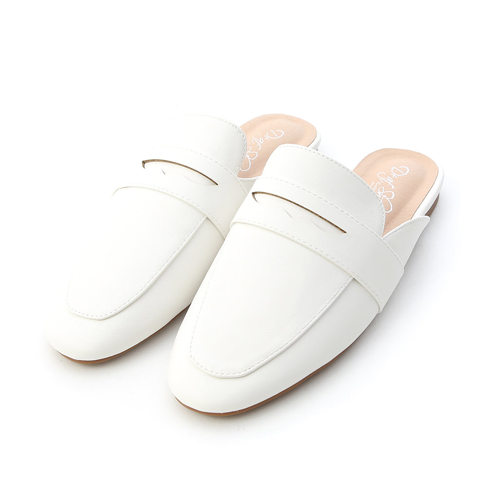 Penny Loafer Mules White S00006906