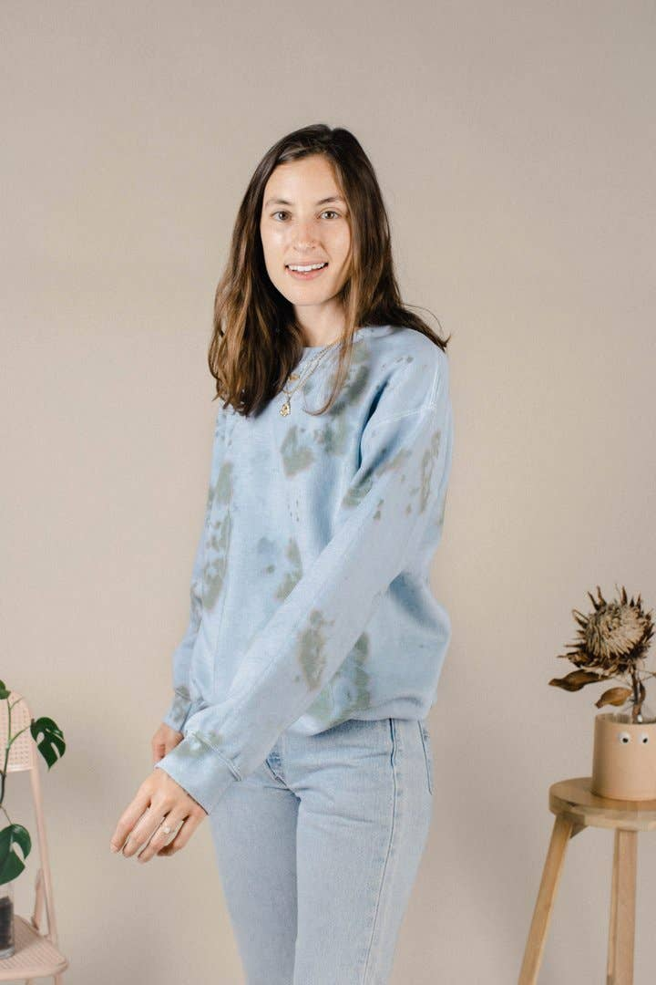Sea Blue Tie Dye Sweatshirt