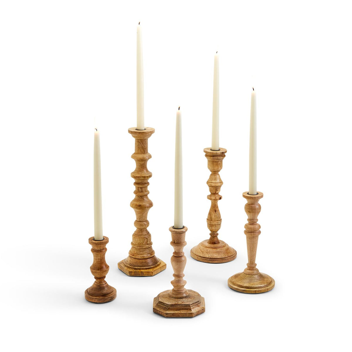 Mango Wood Candlesticks