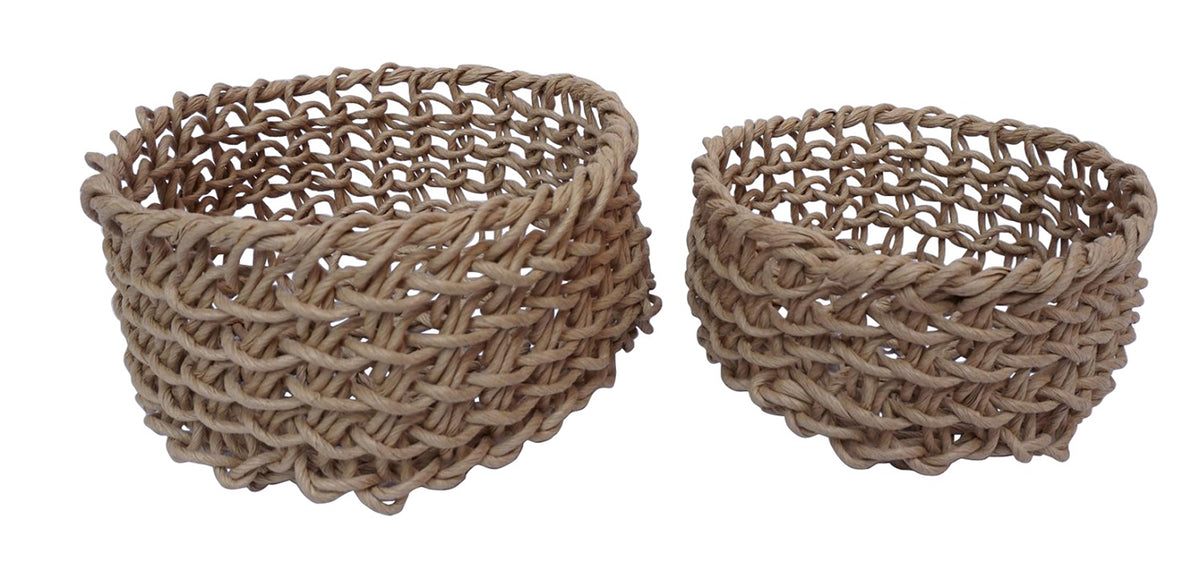 Small tan folding basket