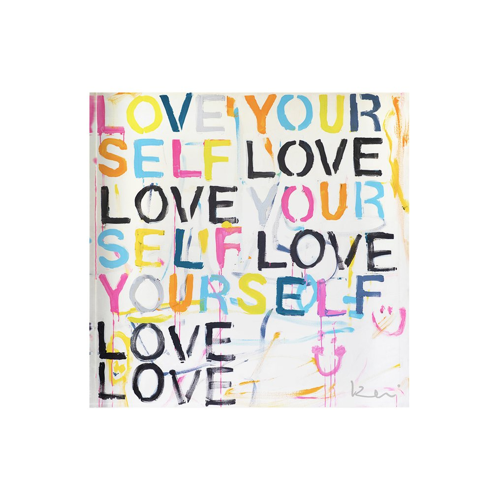 Love Yourself Block of Love
