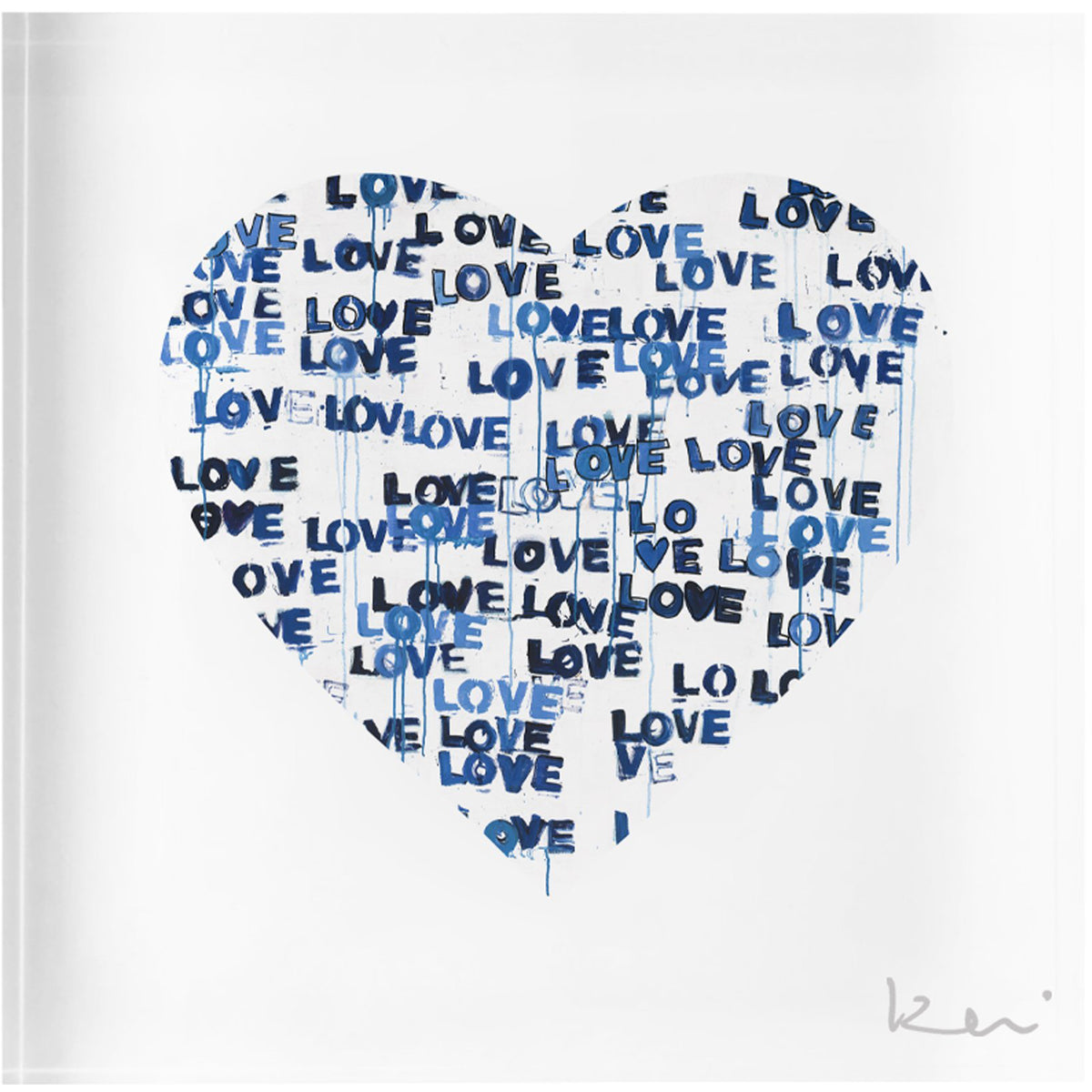 Love Letters Blue Block of Love