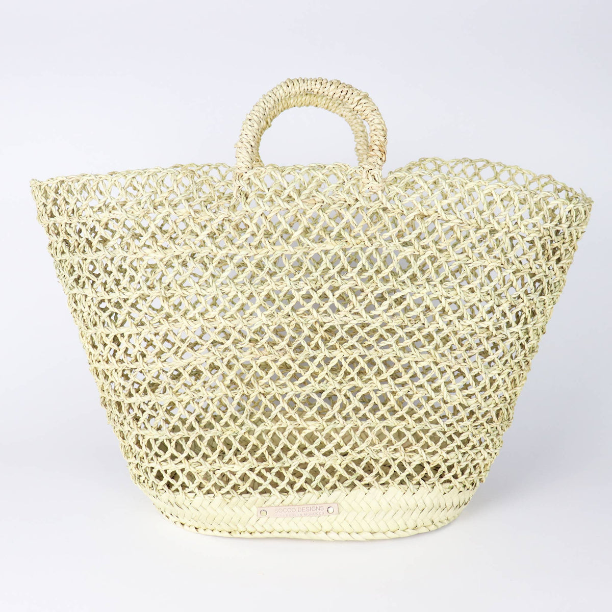 Albufeira French Basket - Straw Beach Tote