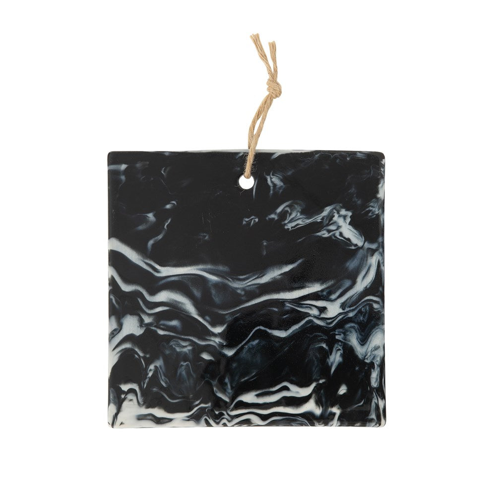 Charcoal Marble Glaze Cheese Board